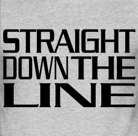 Straight down the Line
